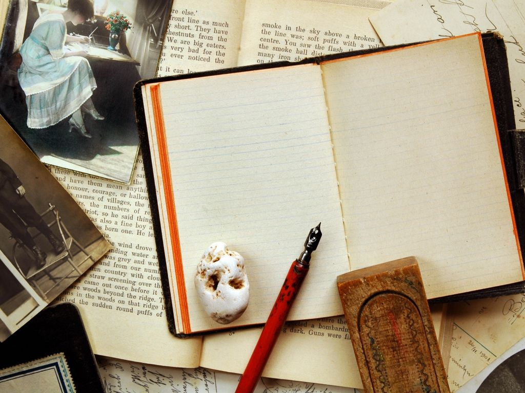 Accessories Notebook old Pen table Wallpapers