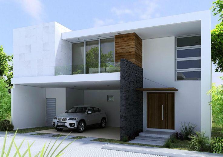 fachadas casas dos plantas lujosa