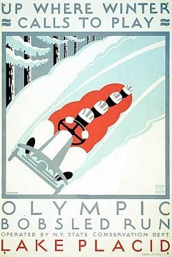 vintage WPA poster - winter play