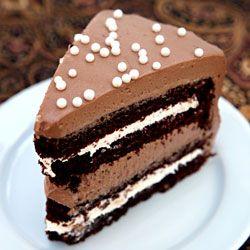 Marshmallow Chocolate Malt Cake