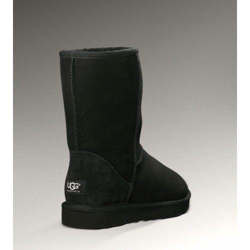 Ugg Short Classic 5825 Black Boots Kurze Stiefel Ugg Australia Handtaschen Damen