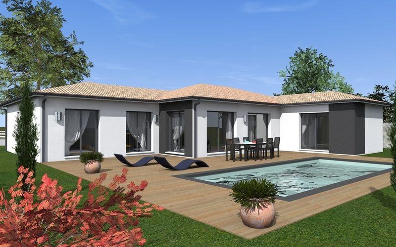 maison contemporaine d cal e maisons bati sud maison. Black Bedroom Furniture Sets. Home Design Ideas