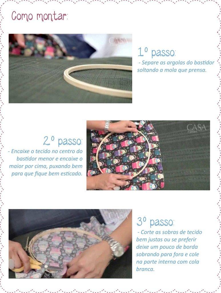 Decoração DIY usando bastidor e tecido para patchwork | #decoração | #decoration | #bastidor | #DIY | D20 Studio - www.d20studio.com.br