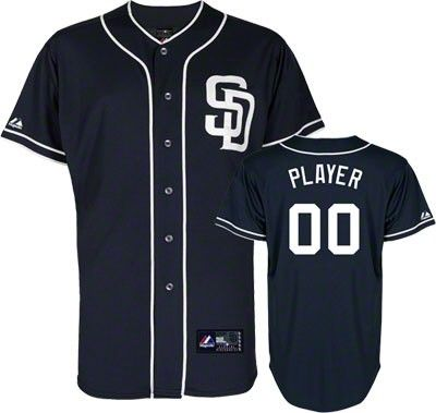 967670098 San Diego Padres Majestic Kids Alternate Navy Baseball Jersey ...