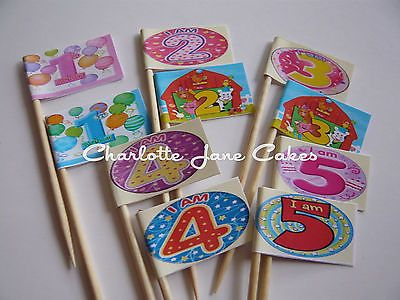 20 #cupcake flags/toppers - #childrens birthday #party ages 1-5,  View more on the LINK: http://www.zeppy.io/product/gb/2/121095527051/
