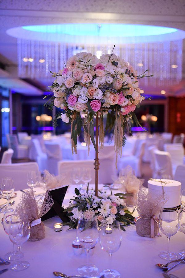Elegant γαμος με απαλες αποχρωσεις | Centre de table, Table