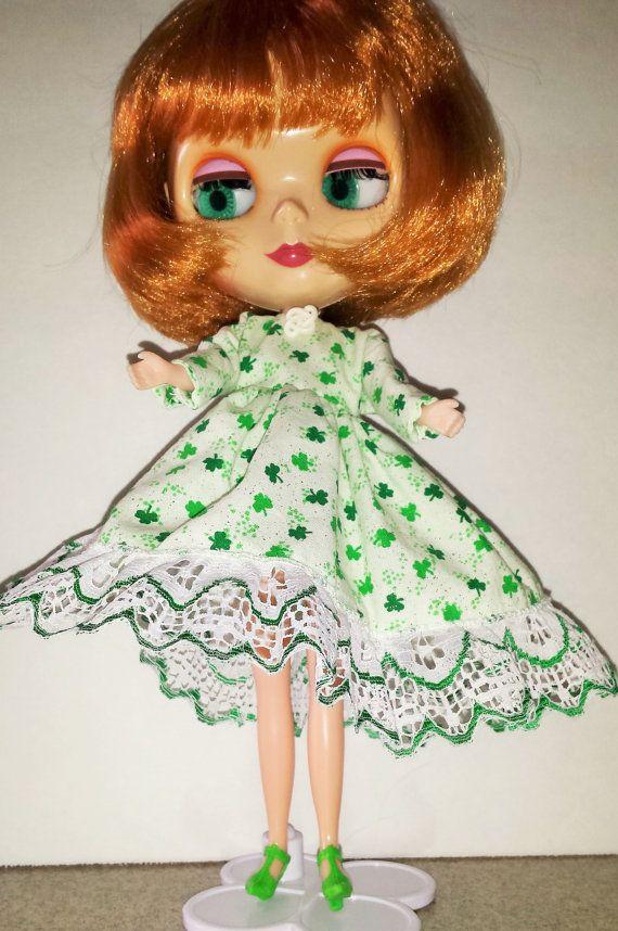 Shamrock St. Pat's Day Dress for Blythe by TheBlackOnyxBoutique
