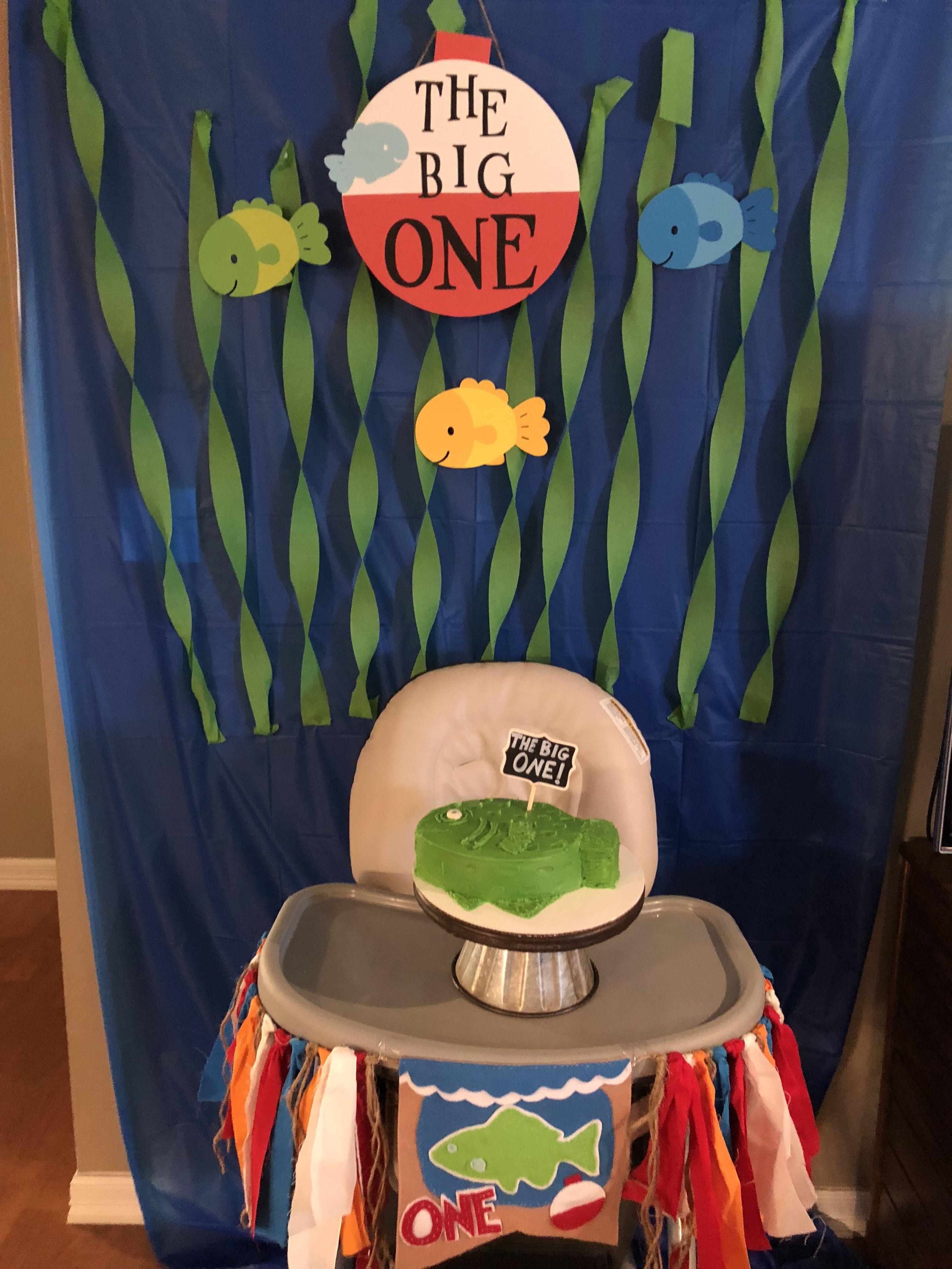 Fishing Birthday Party High Chair
