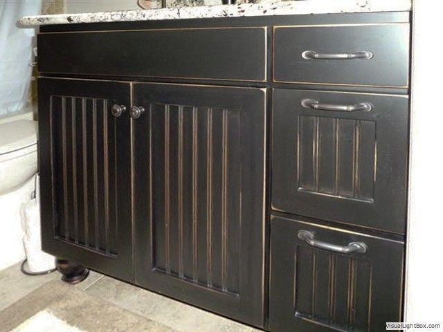 paint bathroom cabinets black painting furniture espresso brown with black glaze 19841