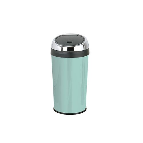 53 Stylish And Durable Duck Egg Blue Stainless Steel Kitchen Bin With A Beautiful Enamel