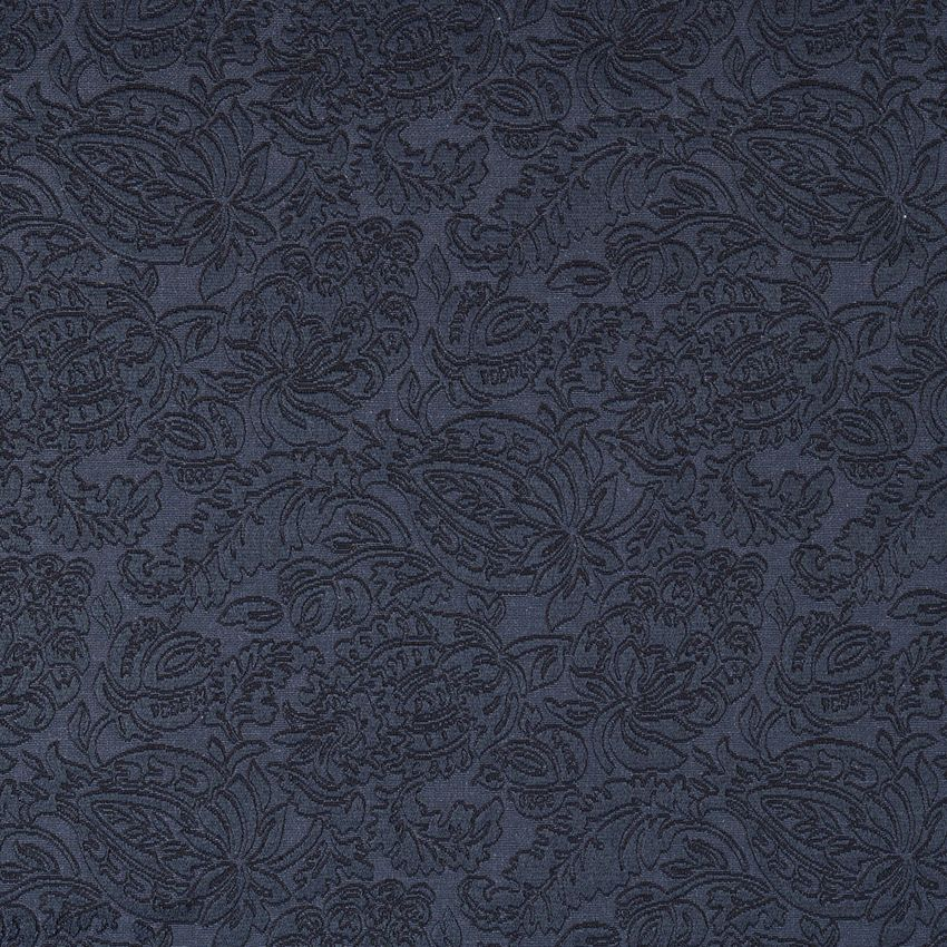 The K6667 DELFT/GARDEN upholstery fabric by KOVI Fabrics features Foliage pattern and Dark Blue as its colors. It is a Brocade or Matelasse, Damask or Jacquard type of upholstery fabric and it is made of 75% cotton, 25% polyester material. It is rated Exceeds 35,000 Double Rubs (Heavy Duty) which makes this upholstery fabric ideal for residential, commercial and hospitality upholstery projects. For help Call 800-8603105.