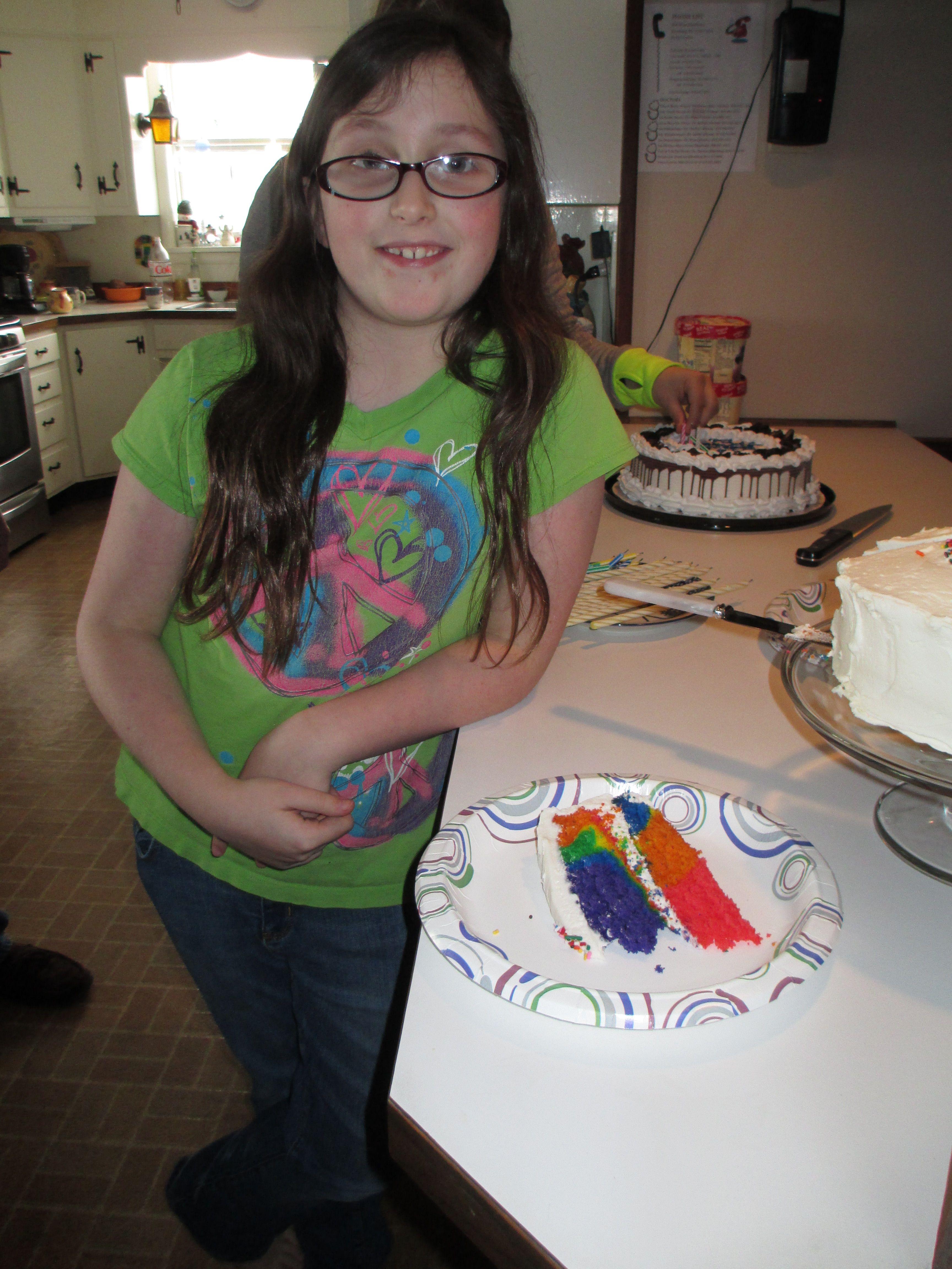 Becca's rainbow cake