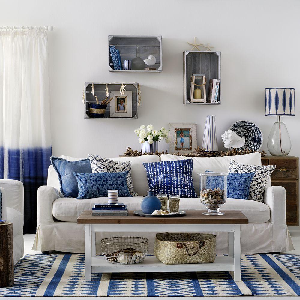 island style decorating living room curtains design in boho coastal beach nautical decor