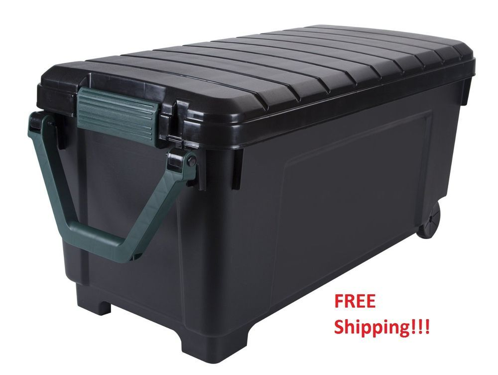 Foot Locker Storage Chest Interesting Rolling Storage Trunk College Foot Locker Garage Lockable Tote Design Decoration