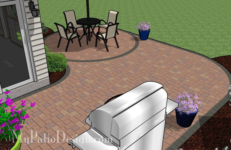 """L"" Shaped Patio Design 