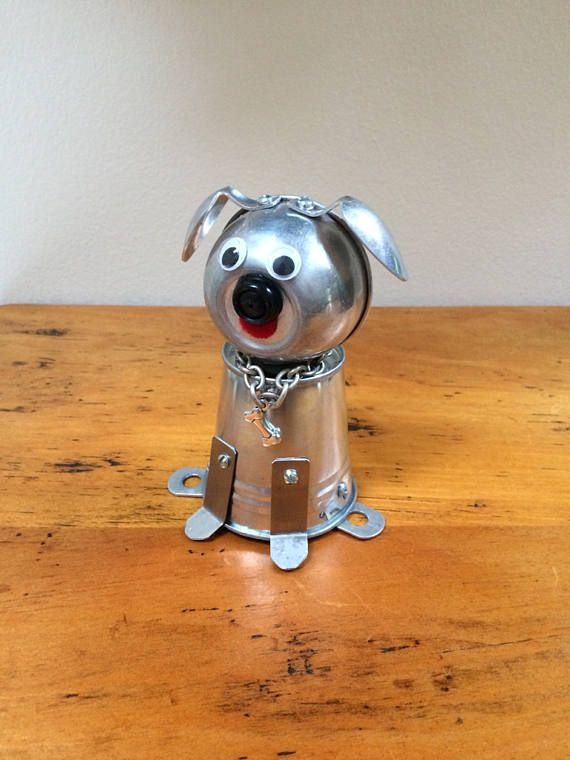 This Sweet Little Dog Sculpture Is An Example Of Found Object Art