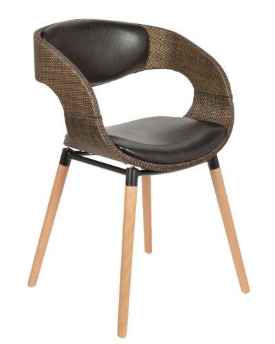 1x Design Club Stuhl Barstuhl Kuechen Esszimmer Stuhl Sitz In Rattan