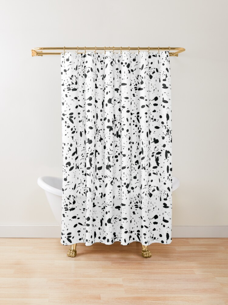 Black And White Ink Pattern Shower Curtain By Sziszigraphics In 2020 Patterned Shower Curtain White Ink Designer Shower Curtains