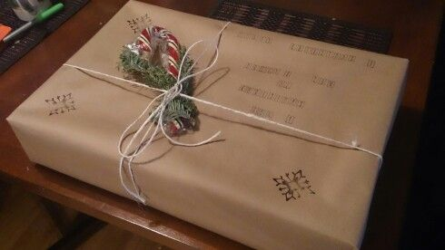 Christmas rustic wrapping