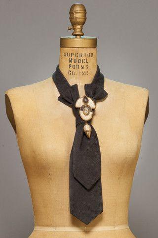 Womens Blue Tie | Womens Fashion Ties | Brinko Ties | Women's unique accessory |