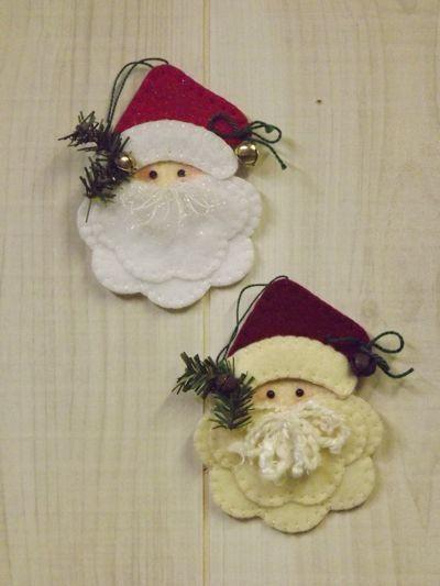 *FELT ART ~ Deck the Halls - Santa Ornament