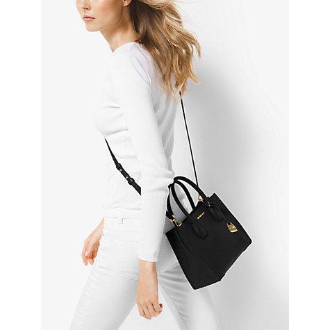 c9492b2f510c Buy MICHAEL Michael Kors Mercer Leather Messenger Bag Online at  johnlewis.com