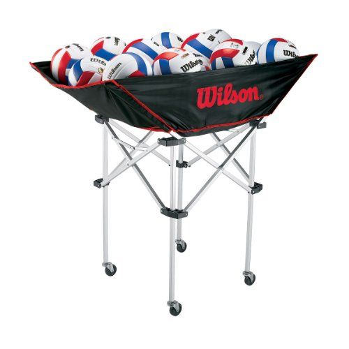 Wilson Stand Up Volleyball Ball Cart Ever Lasting Game Wilson Volleyball Volleyball Volleyball Equipment