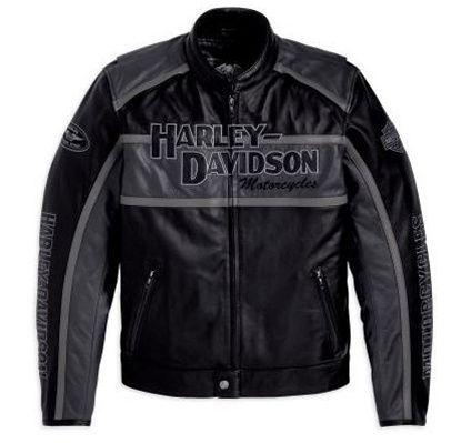 Men/'s Harley Davidson Black Vest Motorcycle Biker Racer Leather Jacket
