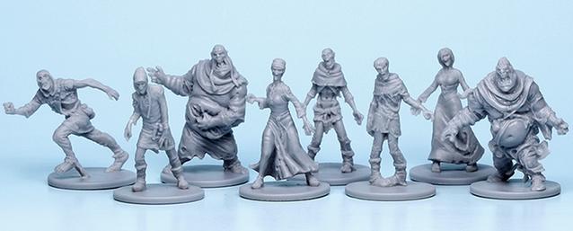 final plastic production samples of the Zombicide: Black Plague miniatures. Zombie hordes