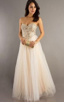 cream prom dresses - Google Search | Ball gowns | Prom dresses ...