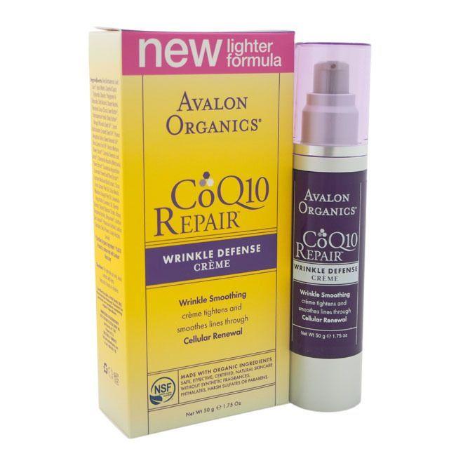 Avalon Organics CoQ10 Wrinkle Defense Creme, 1.75 Fl Oz Lreve Pearl Infused Salt Scrub - Hemp