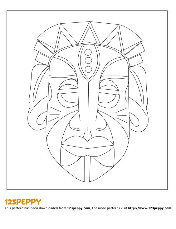 printable how to make pattern how to make an african mask