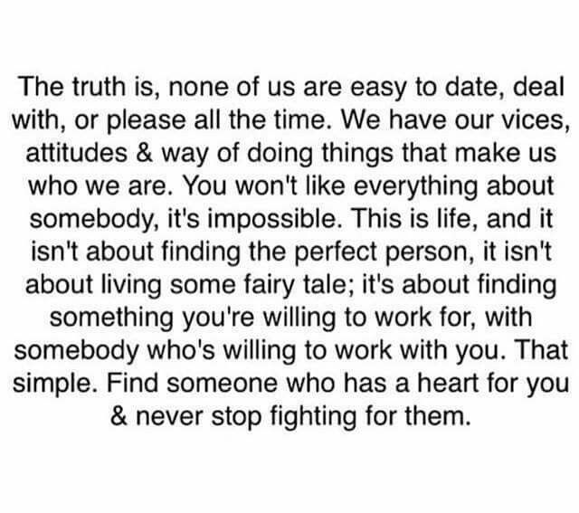 None of us are easy to date