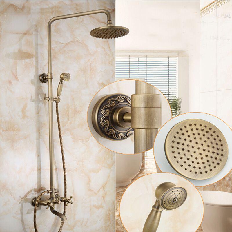 Wholesale And Retail Antique Brass Tub Spout Rain Shower Head 8 ...