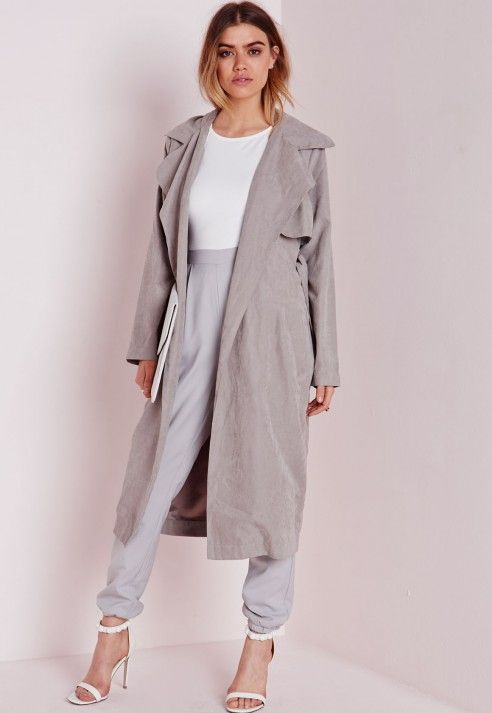 Womens grey duster jacket