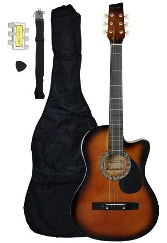 Crescent Mg38 Cf Ca 1 38 Cutaway Acoustic Guitar Starter Package Coffee By Crescent 19 00 The 38 Inch Acoustic Acoustic Guitar Guitar Guitar For Beginners