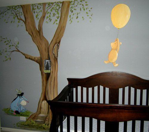 Classic Winnie The Pooh Mural Muralist Debbie Cerone Winnie The Pooh Mural Winnie The Pooh Nursery Classic Pooh Nursery