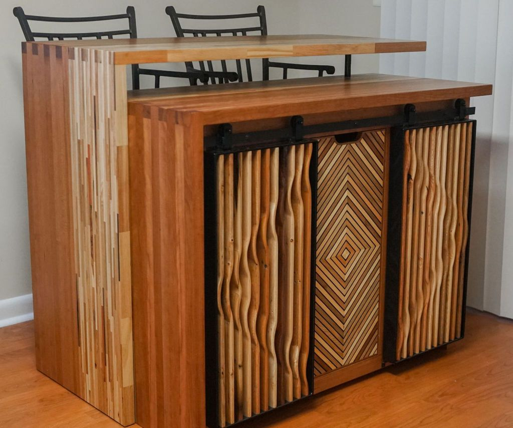 Kitchen Island From Reclaimed Wood in 2020