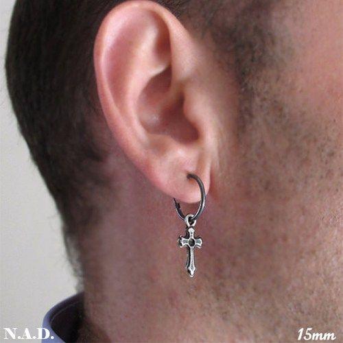 10mm or 12mm Pair of spike cone charms sterling silver hoop earrings