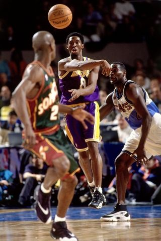 1998 Nba All Star Weekend Indiana Pacers Gary Payton Kobe Bryant Pictures Kobe Bryant