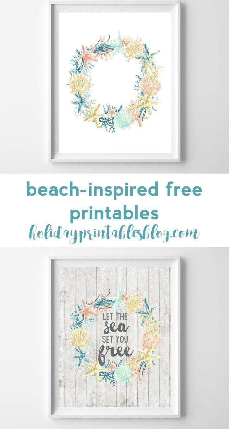 Coastal Inspired Summer Printable Art Printable Art Printable