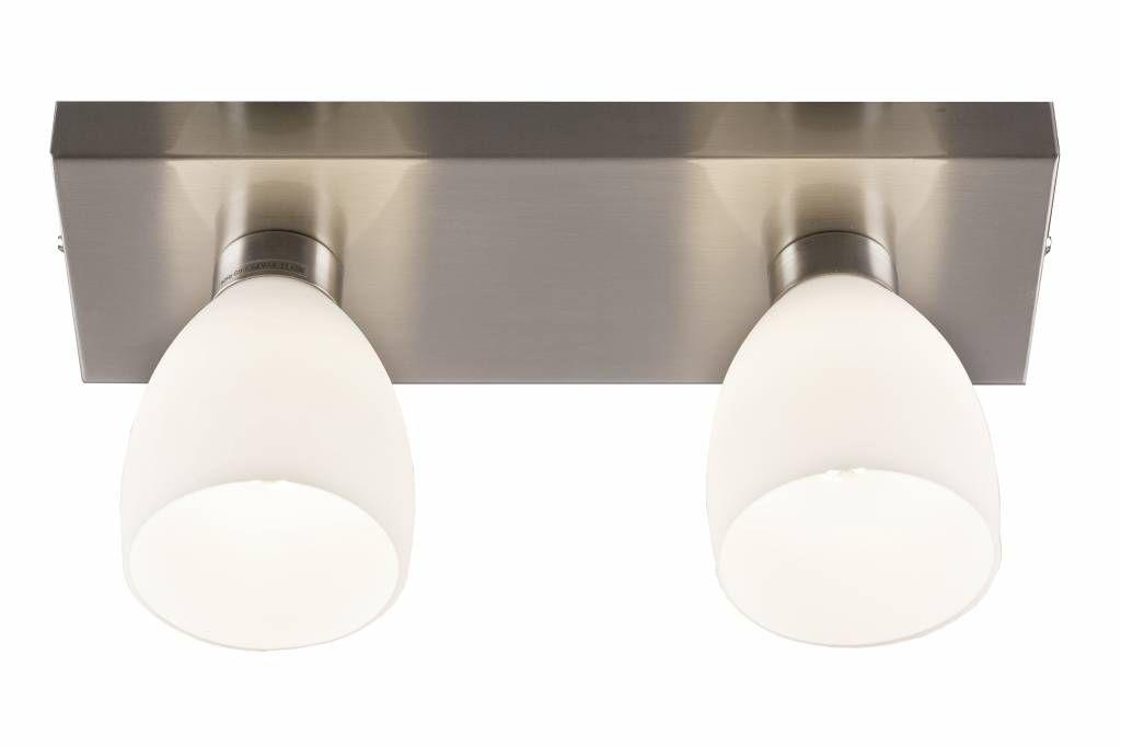 Plafondlamp LED glas mat G9 2x2,6W 300mm lang
