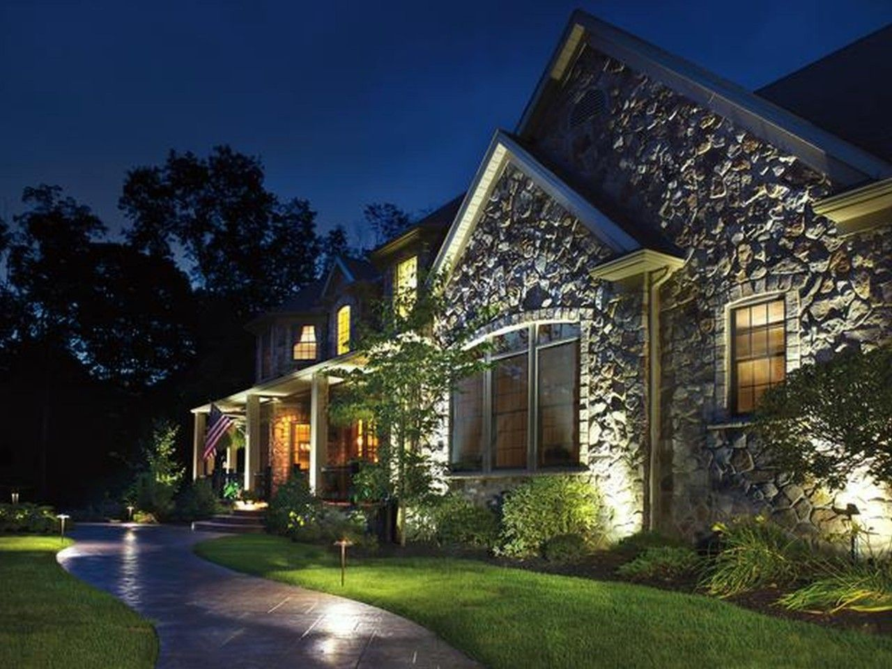 landscaping lighting ideas for front yard