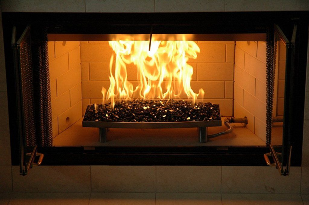 Fireplace Cute Glass Rocks For Electric Fireplace From Elegant