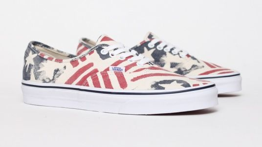 bf4eae02d9a Vans Authentic Van Doren - Retro Flag Number one to get for the summer!
