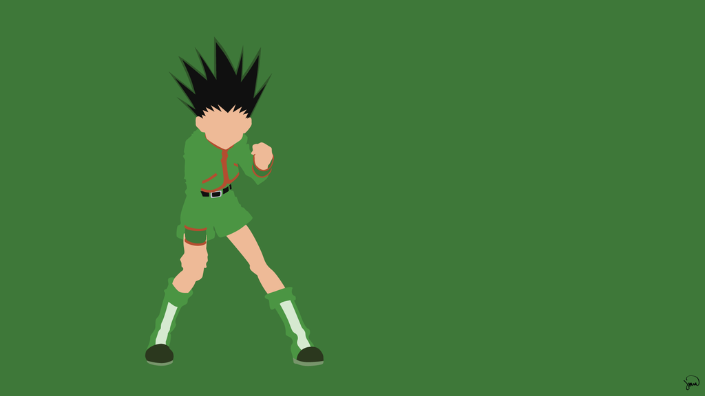 Gon Freecss Hunter X Hunter Minimalist Wallpaper By