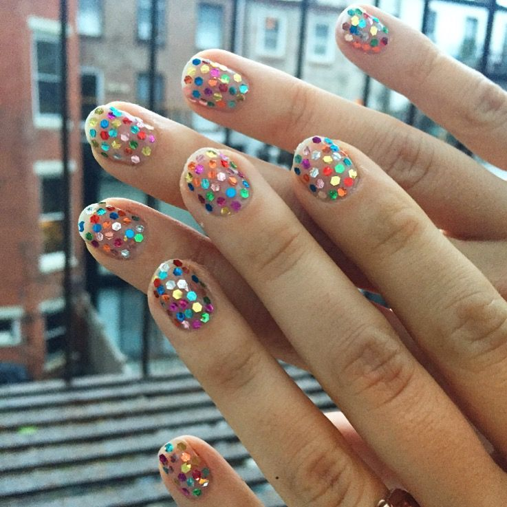 Happy New Year! Placed Glitter Confetti Nails For My Last #nye In ... Happy New Year! Placed Glitter Confetti Nails For My Last #nye In ... Diva Nails diva nails nyc