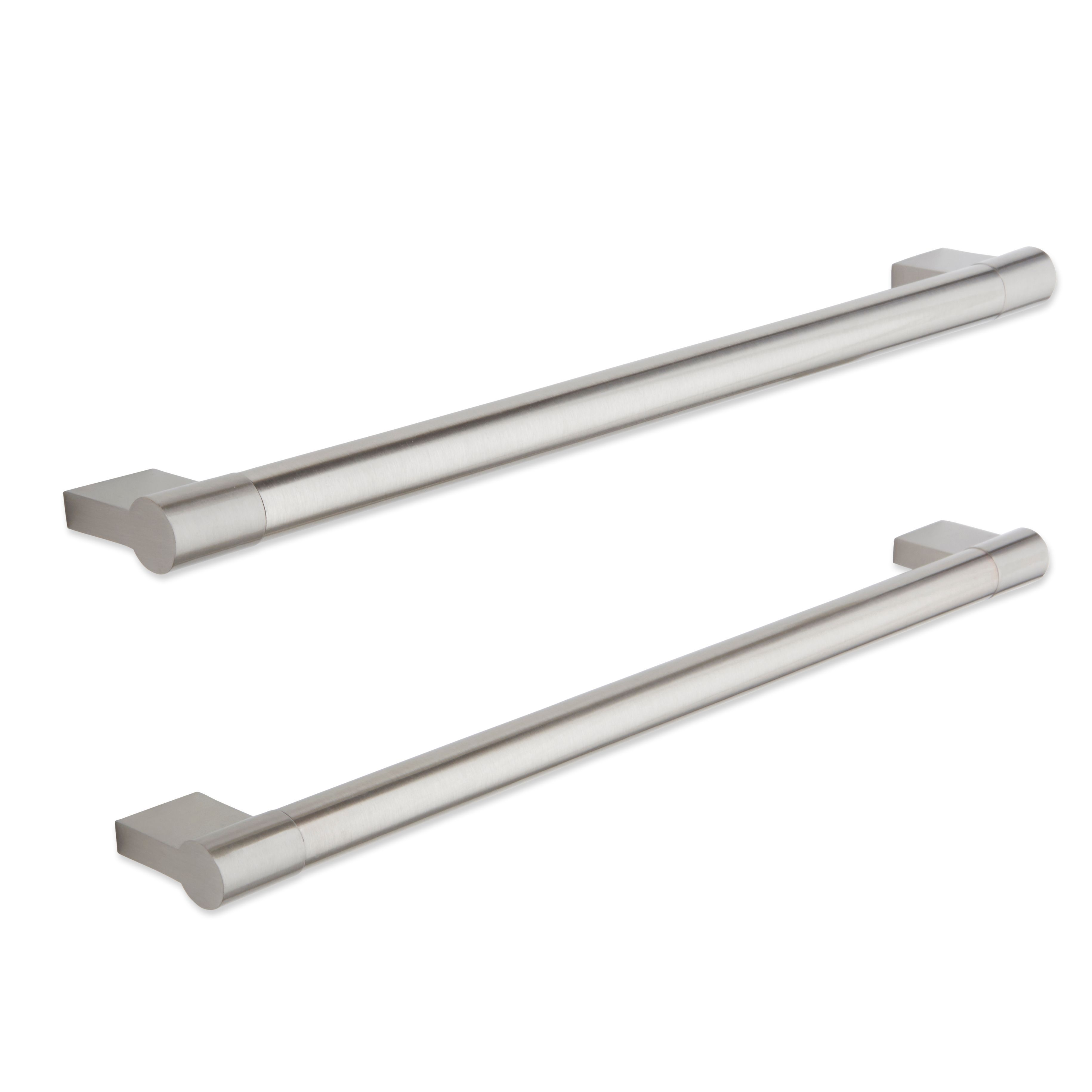 brushed nickel kitchen hardware cabico cabinets it kitchens effect straight cabinet handle