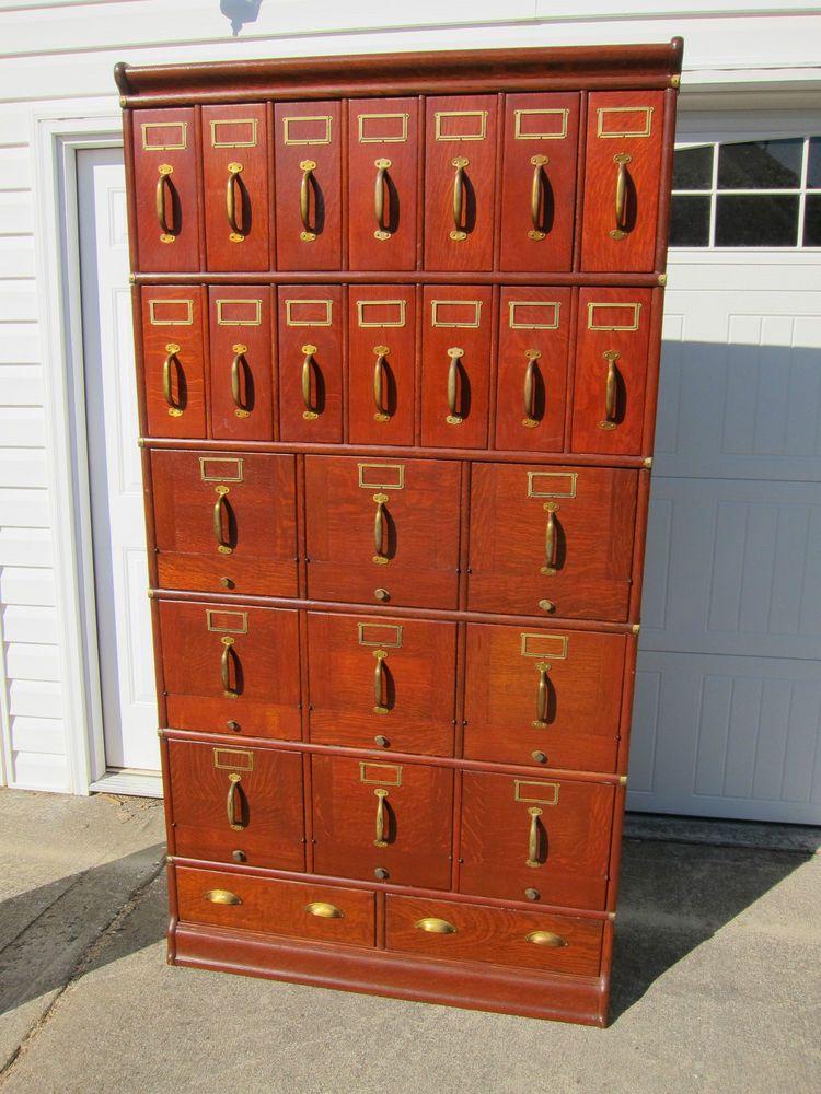 Another Wondergul Solid Oak Stacaking File Cabinet By Globe Wernicke Co Cincinnati Measures 41 1 2 Wide 78 High And 13 Deep
