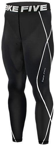 New 011 Skin Tights Compression Leggings Base Layer Black Running Pants Mens $11.99 (70% OFF)